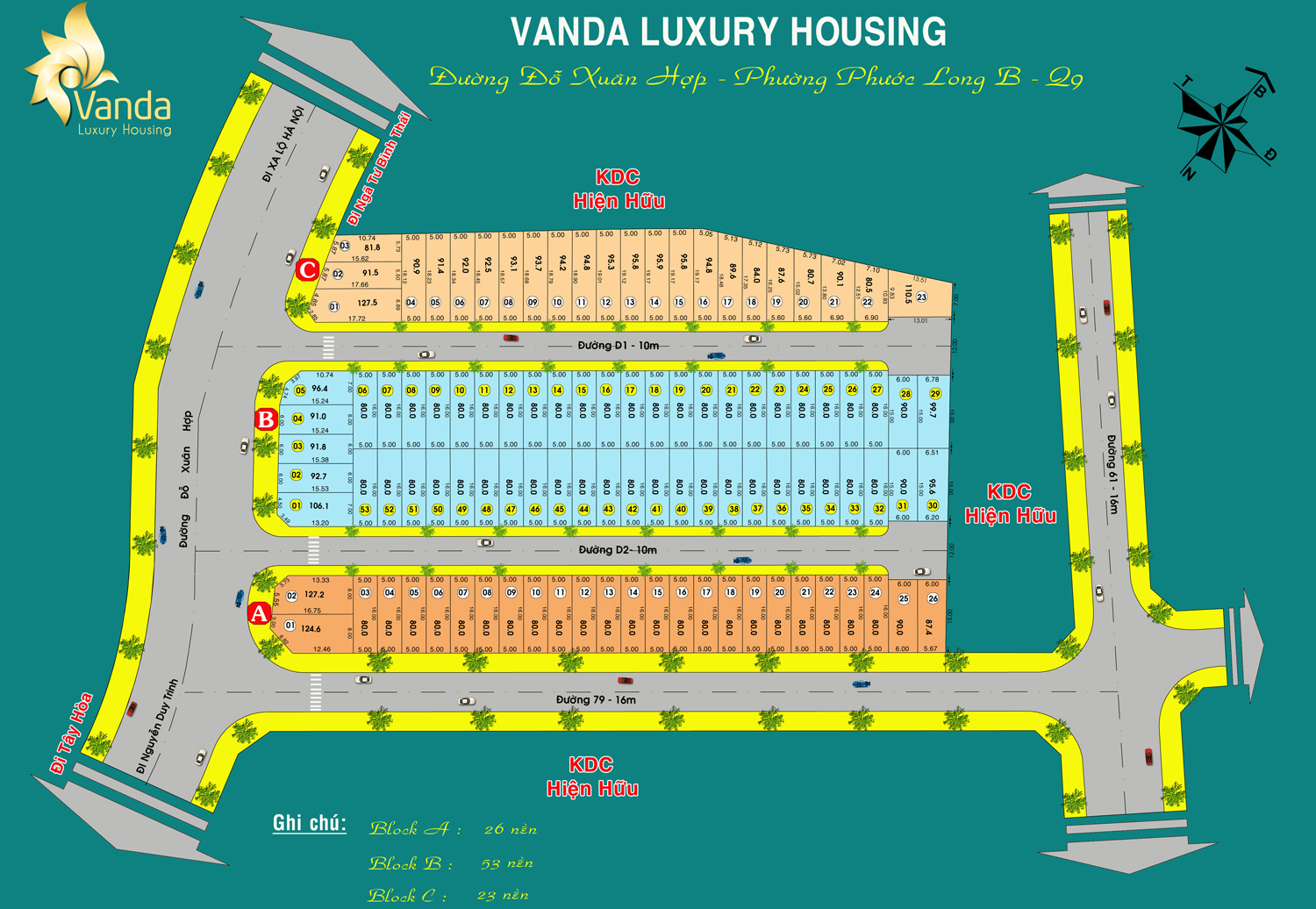 mặt bằng Vanda luxury housing